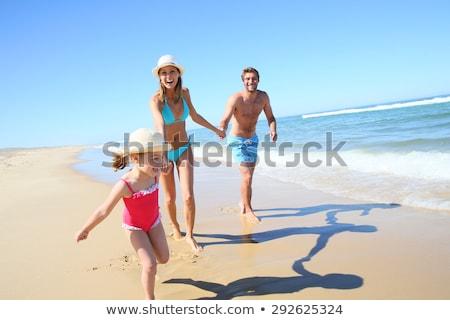 Mujer rubia relajante arenoso playa tropical verano viaje Foto stock © NeonShot