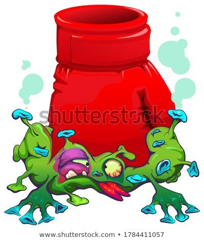Rouge faire sauter coronavirus lutte épidémie Photo stock © orensila