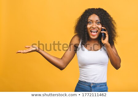 a black businesswoman furious over the phone stock photo © photography33