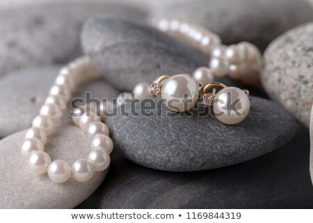 inci · küpe · yalıtılmış · beyaz · altın · hediye - stok fotoğraf © tab62