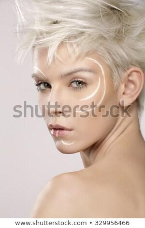 моде · довольно · модель · фантазий · макияж · стороны - Сток-фото © Geribody