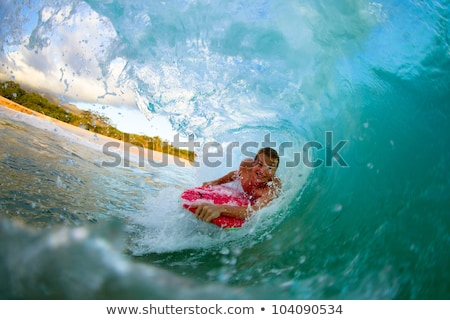 Corpo surfe ondas oceano sorrir Foto stock © meinzahn