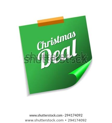 Noel anlaşma yeşil vektör ikon Stok fotoğraf © rizwanali3d