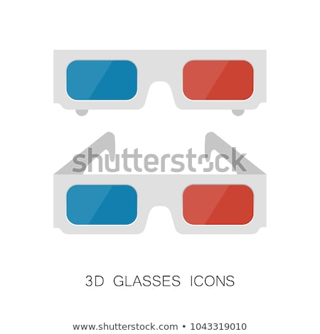 Icons with movie 3D eyewear Stock photo © bluering