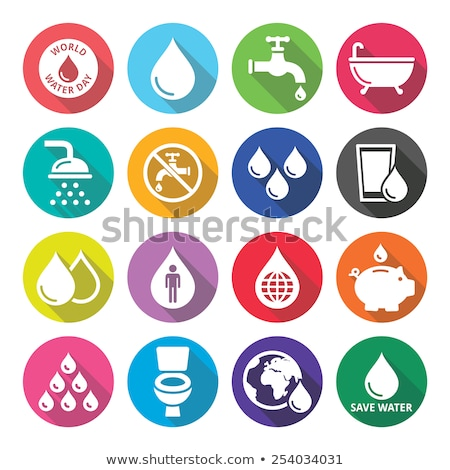 Industry flat white color rounded vector icon Stock photo © ahasoft