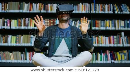 виртуальный реальность путешествия женщину таблетка компьютер Сток-фото © Elnur