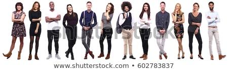 Man vrouw poseren witte jonge man paar Stockfoto © Giulio_Fornasar