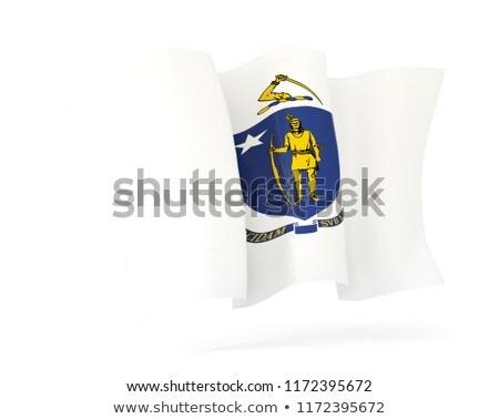 Массачусетс флаг икона Соединенные Штаты Сток-фото © MikhailMishchenko