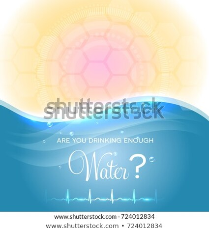 Cartaz potável suficiente água normal Foto stock © Tefi