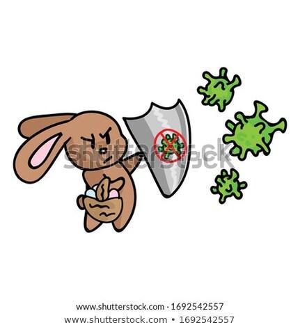 Hasta karikatür Paskalya sepet örnek bakıyor Stok fotoğraf © cthoman