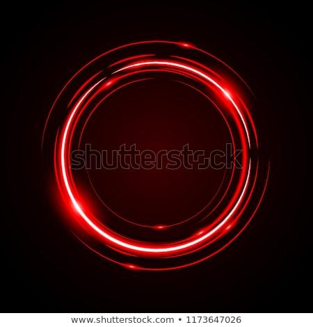 Abstract cirkel frame Rood element ontwerp Stockfoto © blaskorizov