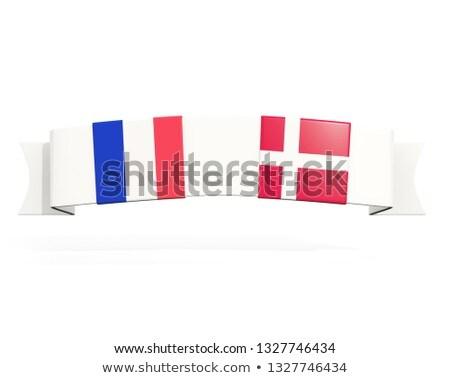 Szalag kettő tér zászlók Franciaország Dánia Stock fotó © MikhailMishchenko