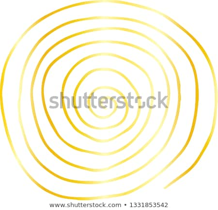 golden rough sketch of sinistral spiral pattern stock photo © blue_daemon
