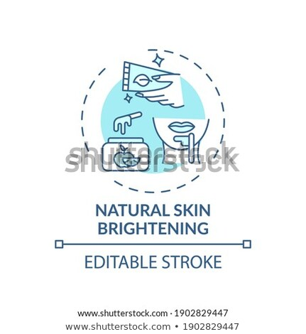 appearance of acne icon vector outline illustration Stock photo © pikepicture