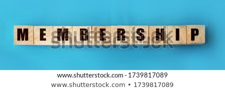Join Us Concept Vintage Wooden Letterpress Type Word Stock photo © enterlinedesign