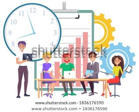 мужчин коллеги развивающийся крайний срок работу вектора Сток-фото © robuart