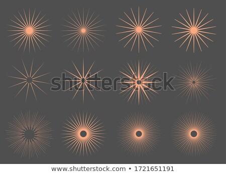 ヴィンテージ 太陽 バースト 日光 セット デザイン ストックフォト © SArts