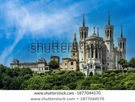 Basilica of Notre-Dame de Fourviere, Lyon, France Stock photo © borisb17
