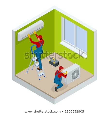 Service Air Conditioner isometric icon vector illustration Stock photo © pikepicture