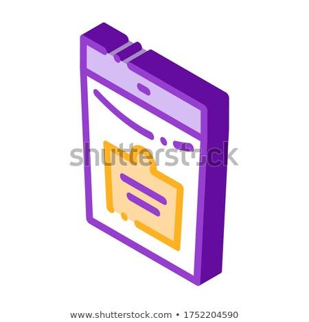 Bio paquete icono vector Foto stock © pikepicture