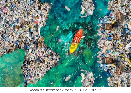 Garbage in water  Stock photo © cozyta