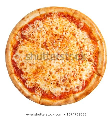 bütün · pizza · peynir · akşam · yemeği - stok fotoğraf © zhekos