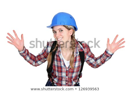 An elated tradeswoman Stock photo © photography33