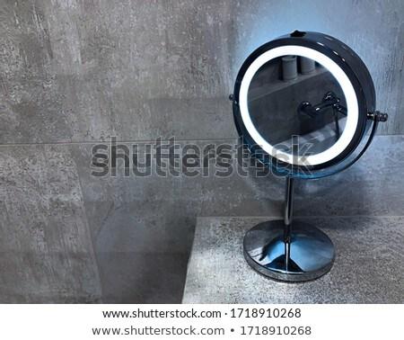 Płytek mały mozaiki niebieski czarny Zdjęcia stock © elxeneize
