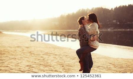 Miłości summertime zabawy szczęścia romans Zdjęcia stock © juniart