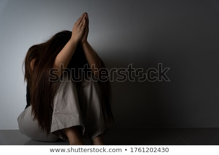 Ağlayan kadın ağrı keder bayrak Katar Stok fotoğraf © michaklootwijk