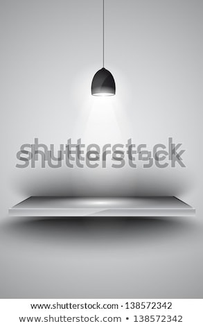 Shelves with 3 spotlights lamp with directional light  Stock photo © DavidArts