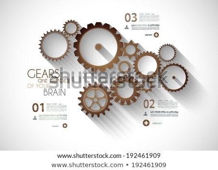 infographic timeline with gear mechanic concept stock photo © davidarts