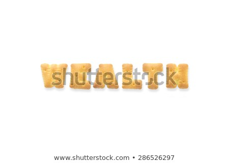 The Letter Word WEALTH Alphabet Biscuit Cracker Stock photo © vinnstock