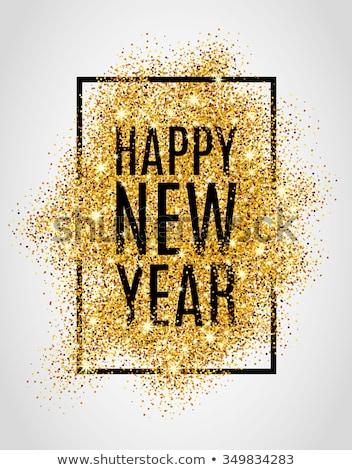 happy · new · year · kart · 2016 · kar · tanesi · sanat · mutlu - stok fotoğraf © carodi