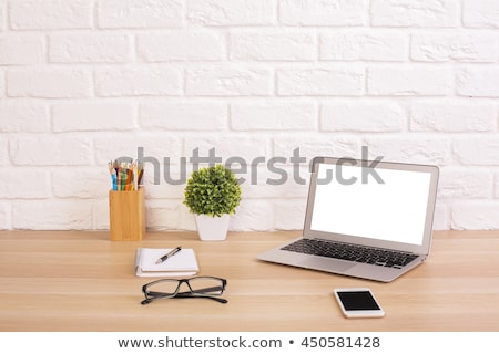 белый кирпичная стена бизнеса Сток-фото © ra2studio