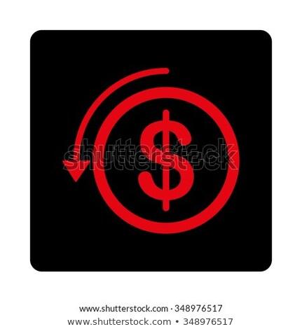 интенсивный красный черный цветами кнопки икона Сток-фото © ahasoft