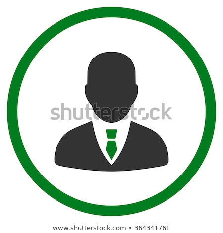 man flat green and gray colors rounded button stock photo © ahasoft