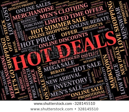 Hot Deals Means Number One And Agreement Stock photo © stuartmiles