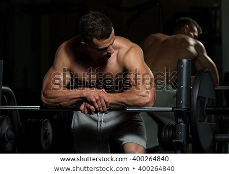 Healthy Young Man Resting In Health Club Stock photo © Jasminko