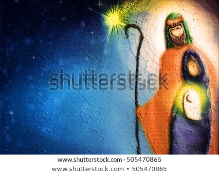 birth of jesus in bethlehem   abstract card stock photo © jackybrown