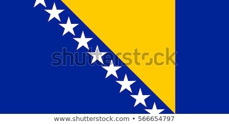 Bosna Hersek bayrak beyaz soyut manzara dizayn Stok fotoğraf © butenkow