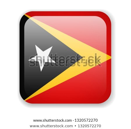 East Timor flag isolated on white Stock photo © daboost