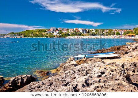 Pjescana Uvala near Pula beach and coastline view Stock photo © xbrchx