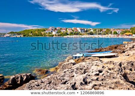 ビーチ 海岸線 表示 地域 クロアチア 海 ストックフォト © xbrchx