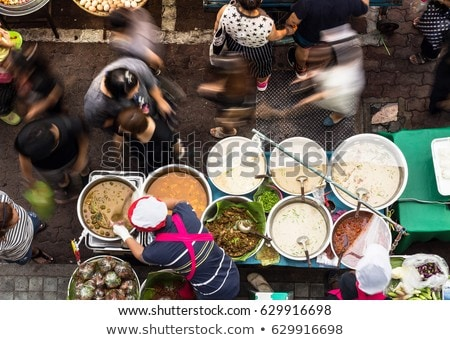 Food on Walking street Asian food market ストックフォト © galitskaya