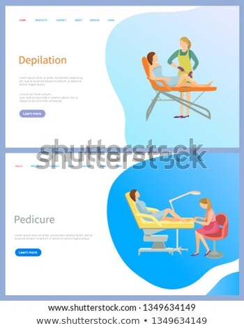 Woman Depilation and Pedicure Web Page Vector Stockfoto © robuart