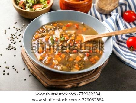 Malzemeler vejetaryen güveç görmek Stok fotoğraf © nito