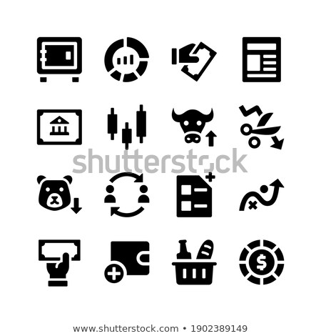 Stock photo: Pie Chart related vector glyph icon.