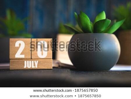 Cubes calendar 20th July Stock photo © Oakozhan