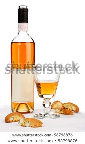 Glas Italiaans dessert wijn voedsel tabel Stockfoto © Alex9500